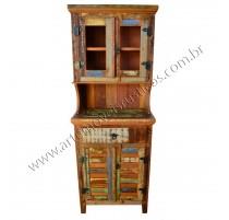 Armário de cozinha madeira de demolição- 1589