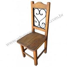 """Cadeira """"Coração"""" de Madeira com Ferro maciço achatado - 2973"""