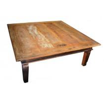Mesa de centro rustica de madeira demolição - 1689