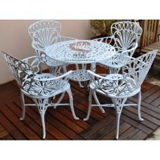 Conjunto Primavera (Mesa com 4 Poltronas) em Alumínio Fundido - 4766