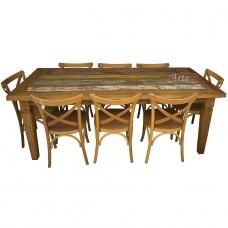 """Conjunto Mesa 2,20 x 1,00 com Tinta + 8 Cadeiras """"Katrina"""" - 4693"""