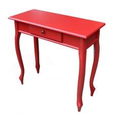 Aparador 0,80 x 0,35 Laqueado 1 Tampo 1 Gaveta Pé Piano Vermelho em Taeda- 2475