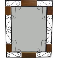 Espelho com madeira e ferro-2762