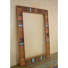 Moldura Espelho madeira rustica- 2741