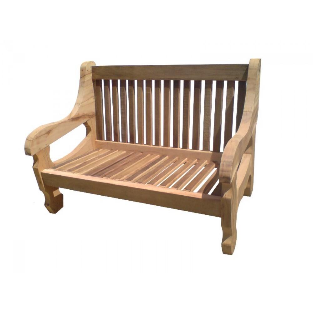Sofá de madeira de demolição 2 lugares - 858