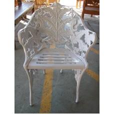 Poltrona samambaia aluminio fundido branco - 1924