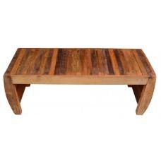 """Banco de  madeira 2 lugares 1,10 em """"U"""" """"Ripado"""" em madeira de demolição - 3139"""