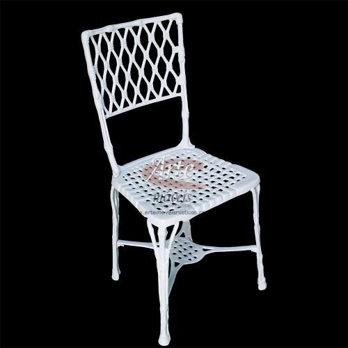 Cadeira Bambu em Alumínio Fundido - 2167