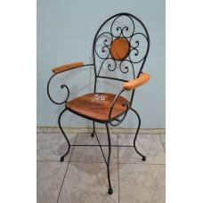 Cadeira c/ Braço de Ferro c/ Madeira