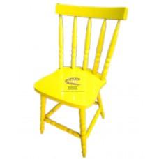 Cadeira Country G Laqueada Amarela em Taeda - 4672