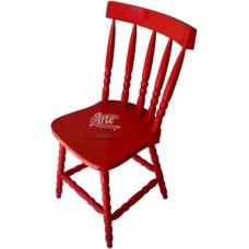 Cadeira Country G Laqueada Vermelha em Taeda - 4674