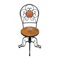 Cadeira de ferro c/ madeira 0,40 x 0,98 - 4014