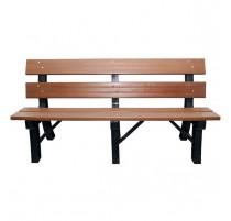 Banco madeira plastica 1,50 com encosto  - 2752