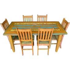 Conjunto com Tinta Mesa 1,80 x 0,80 + 6 Cadeiras Alemãs - 4397