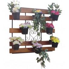 Floreira / Jardim Vertical 1,00 x 0,90 em Madeira e Ferro - 2075