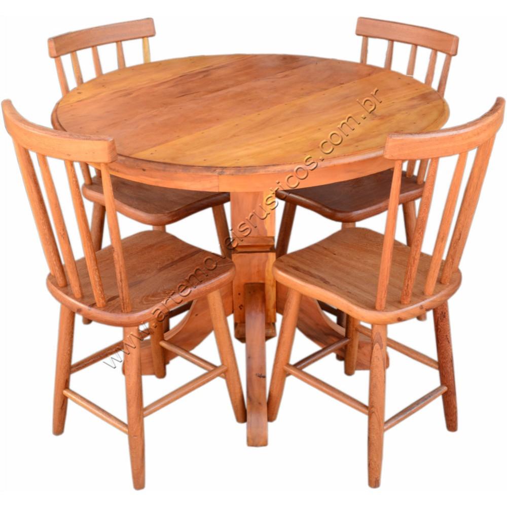 Mesa redonda 1 00 x 0 80 aplainada p aranha em peroba for Modelos de mesas cuadradas