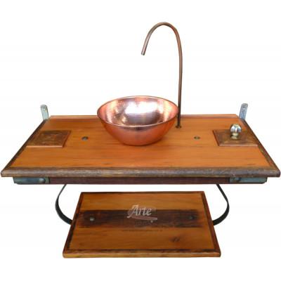 Suporte de pia com cuba de cobre - 1,00 comp - 3292